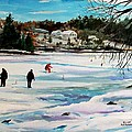Singeltary Lake Ice Fishing by Scott Nelson