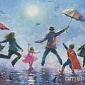 Singing In The Rain Super Hero Kids by Vickie Wade