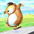 Skateboarding Bear by Scott Nelson