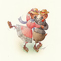 Skating Ducks 11 by Kestutis Kasparavicius