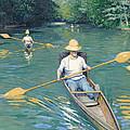Skiffs by Gustave Caillebotte