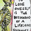 Skull Quoting Oscar Wilde.9 by Fabrizio Cassetta