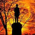 Sky Fire - Flames Of Battle 50th Pennsylvania Volunteer Infantry-a1 Sunset Antietam by Michael Mazaika