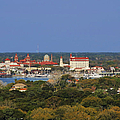 Skyline Of St Augustine Florida by Christine Till
