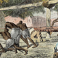 Slaves Irrigating By Water-wheel by English School