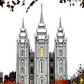 Slc White N Red Temple by La Rae  Roberts