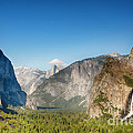 Small Clouds Over The Half Dome by Jane Rix