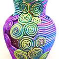Small Filigree Vase by Alene Sirott-Cope