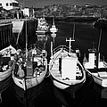 small fishing boats in bunbeg harbour county Donegal Republic of Ireland by Joe Fox