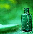 Small Green Poison Bottle by Rebecca Sherman