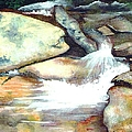 Smoky Mountains Waterfall by Patricia Griffin Brett