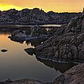 Smoky Sunset On Watson Lake by Dave Dilli