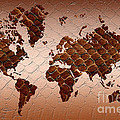 Snake Skin World Map by Zaira Dzhaubaeva