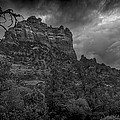 Snoopy Mountain In Black And White by Kelly Gibson