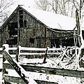 Snow Covered Barn by Kimberleigh Ladd