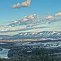 Snow Covered Blue Ridge Print by Lara Ellis
