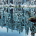 Snow Mirror Print by Eric Glaser