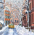 Snow West Village New York City by Anthony Butera