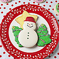 Snowman Cookie Plate by Garry Gay