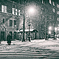 Snowy Winter Night - Sutton Place - New York City by Vivienne Gucwa