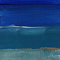 Soft Crashing Waves- Abstract Landscape by Linda Woods