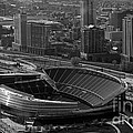 Soldier Field Chicago Sports 05 Black And White by Thomas Woolworth