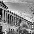 Soldier Field In Black And White by David Bearden