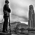 Soldiers Memorial And Cathedral Of Learning by Thomas R Fletcher
