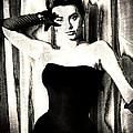 Sophia Loren - Black And White by Absinthe Art By Michelle LeAnn Scott
