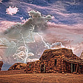 Southwest Navajo Rock House and Lightning Strikes HDR Poster by James BO  Insogna