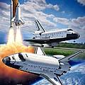Space Shuttle Montage by Stu Shepherd