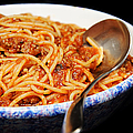 Spaghetti And Meat Sauce With Spoon by Andee Design
