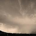 Spider Lightning Above Haystack Boulder Colorado Sepia by James BO  Insogna