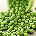Spilled Bowl Of Green Peas by Elena Elisseeva