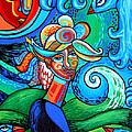 Spiral Bird Lady by Genevieve Esson