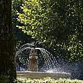 Splashing Water From Fountain by Sami Sarkis