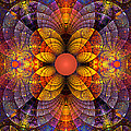 Split Crops Fractal Print by Peggi Wolfe