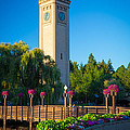 Spokane Clocktower by Inge Johnsson