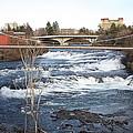 Spokane Falls In Winter by Carol Groenen