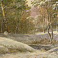 Sportsmen In A Winter Forest by Pieter Gerardus van