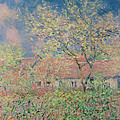 Springtime At Giverny by Claude Monet