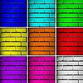 Squared Color Wall  by Semmick Photo