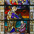 St Augustine By The Sea Shore Talking To A Child by Christine Till
