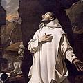 St Bruno Praying In Desert by Nicolas Mignard