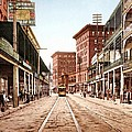 St Charles Street New Orleans 1900 by Unknown