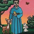St. Francis Animal Saint by Victoria De Almeida