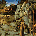 St Francis Of Assisi In The Desert by Giovanni Bellini