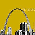 St Louis Skyline Gateway Arch - Gold by DB Artist
