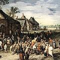 St Martin Print by Jan Brueghel