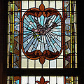 Stained Glass 3 Panel Vertical Composite 03 by Thomas Woolworth